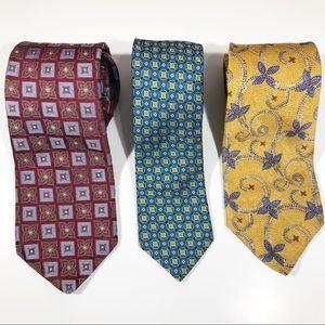 Talbots Ted Baker Silk Tie Lot Designer Bundle